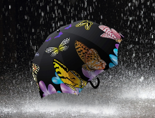 Дизайн зонтика черный