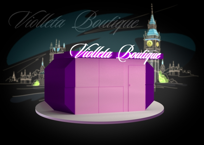 Design of advertising sign - Violleta Boutique