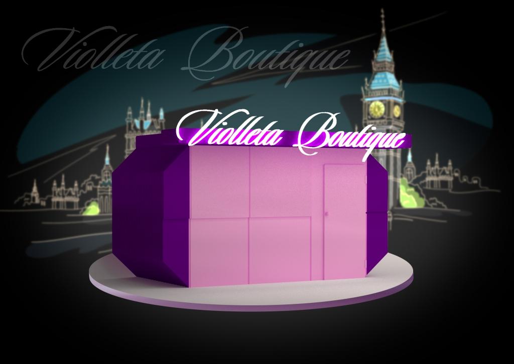 Design of advertising sign - Violleta Boutique