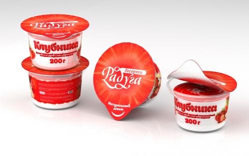 Дизайн концепт йогурта - Клубника