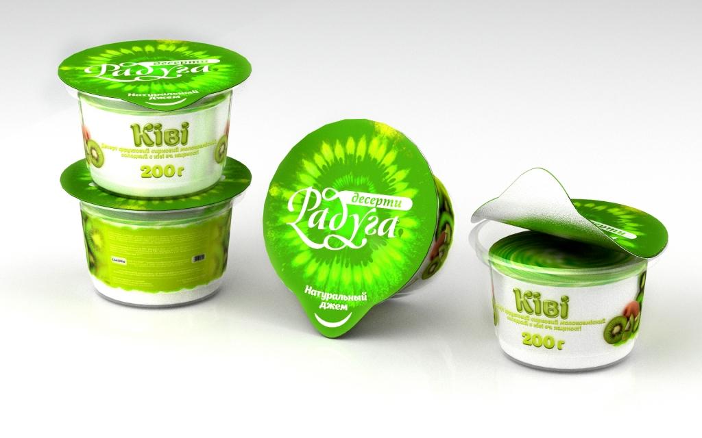 Дизайн концепт йогурта - Киви