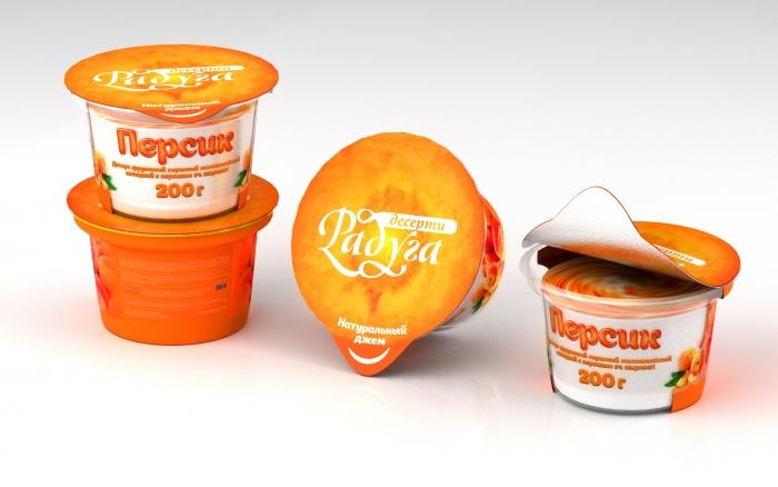 Дизайн концепт йогурта - Персик