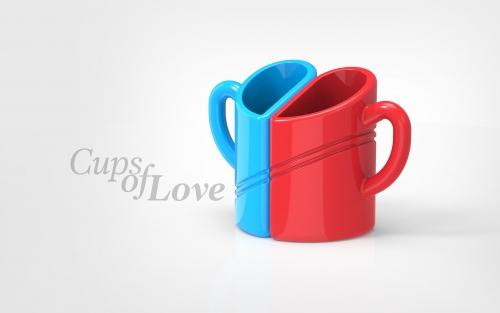 Industrial design - 3d model cups