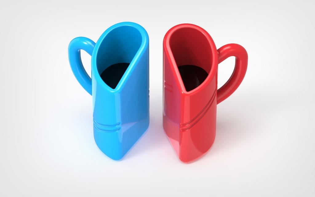 Промышленный образец - 3d модель чашек