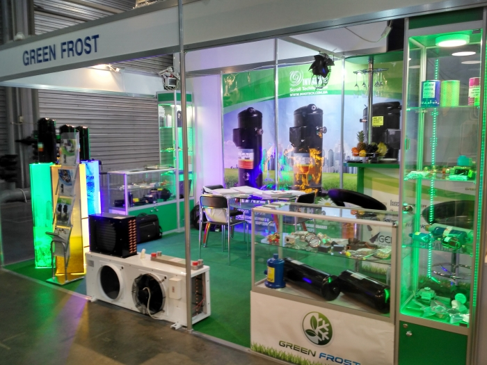 Branding exhibition stand GreenFrost