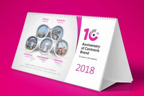 Design printed publications for company Centravis