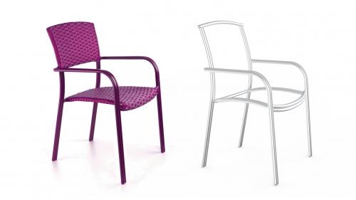 Металлические стулья под плетение