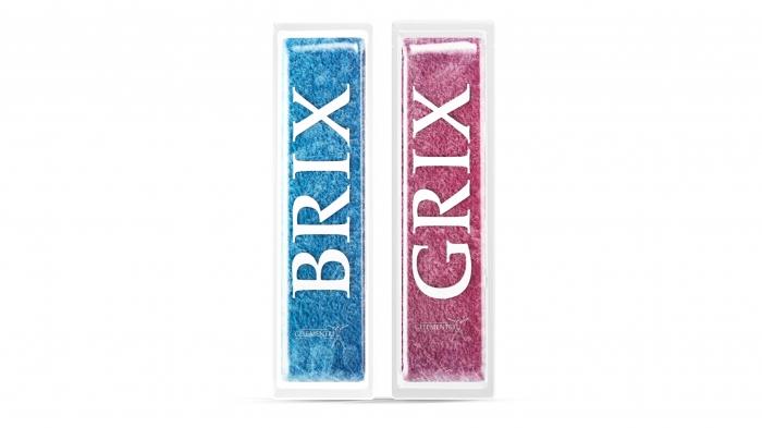 Gelementrix branded product design - Grix and Brix