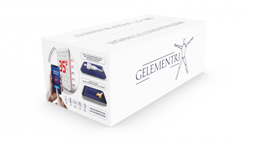 Gelementrix branded product design - main