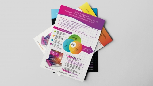 Design info flyers for Yoga Institute Austria