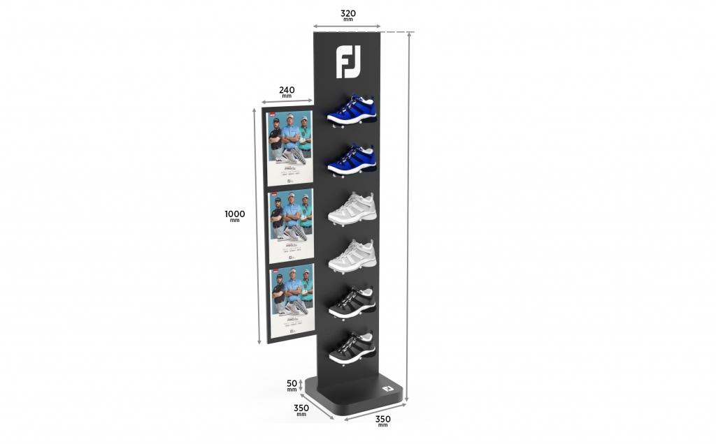Дизайн стенда для гольф обуви
