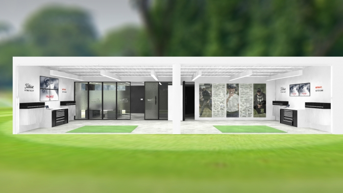 3D visualization of the facade of the office