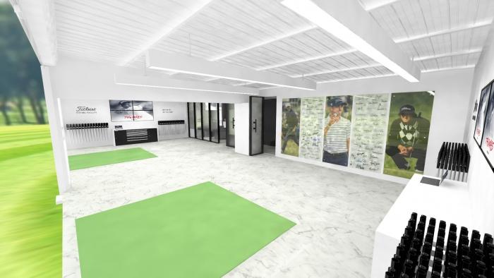 Офис студия 3д для гольфа