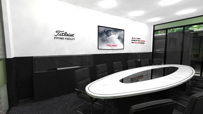 Вариант дизайна комнаты для совещаний