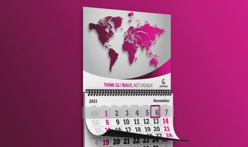 Design cover of calendar for Centravis company