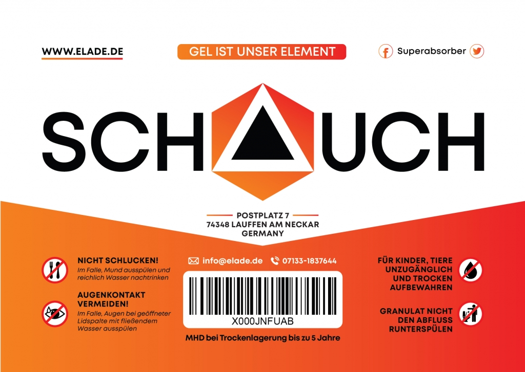 Design of Schauch packaging prints