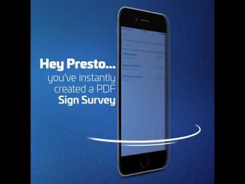 Видео презентация мобильного приложения - Survey